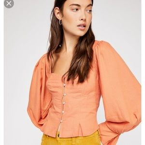 Free people sunrise Monaco blouse